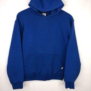 Vintage Russell Hoodie Pullover Blue